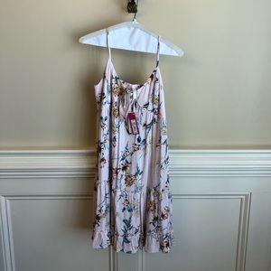 Xhilaration pink floral dress, brand new!